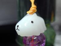 カピバラさんハロウィンストラップ02ホワイトさん幽霊.jpg